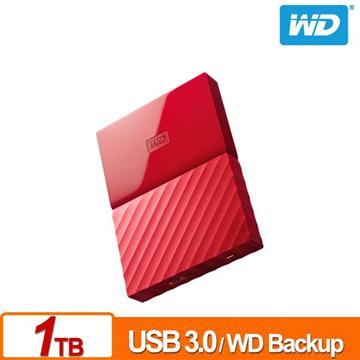 WD 2.5吋 1TB行動硬碟My Passport(紅)