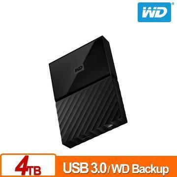 WD 2.5吋 4TB行動硬碟My Passport(黑)