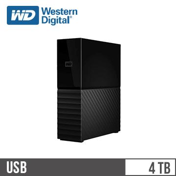 WD威騰 My Book 3.5吋 4TB 外接硬碟(WDBBGB0040HBK-SESN)