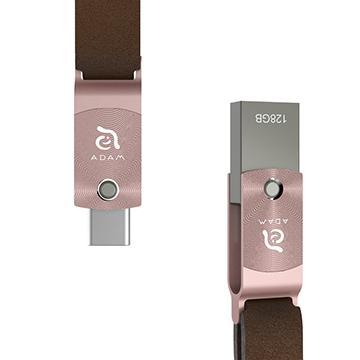 【128G】亞果元素 ADAM TYPE-C / USB 3.1 雙用隨身碟 - 玫瑰金