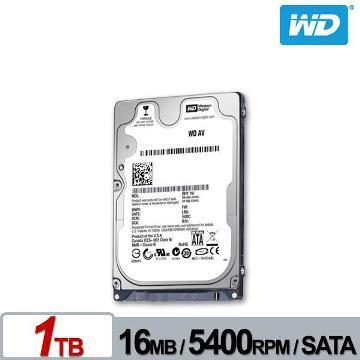 WD 2.5吋 1TB 監控用硬碟