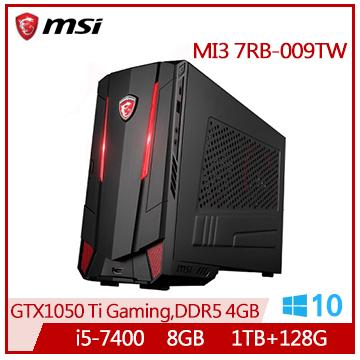 【福利品】微星msi MI3 電競桌機(i5-7400/GTX1050TI/8G/128G+1T/W10M)