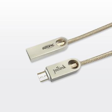INTOPIC Micro USB鋅合金充電編織傳輸線
