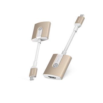 亞果元素 ADAM TYPE-C to HDMI影像轉接器 - 金色