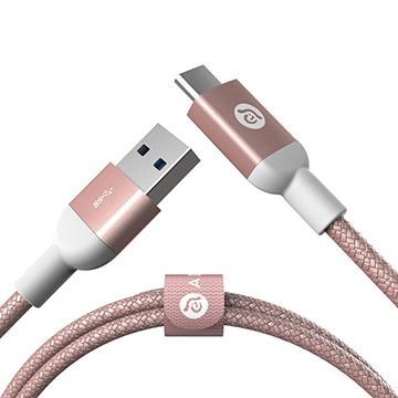 ADAM TYPE-C to USB 3.1 編織線1m-玫瑰金