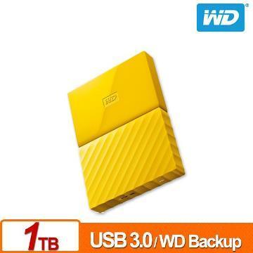 WD 2.5吋 1TB行動硬碟WESN My Passport(黃)