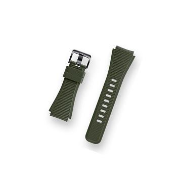SAMSUNG GEAR S3 矽膠錶帶-綠色
