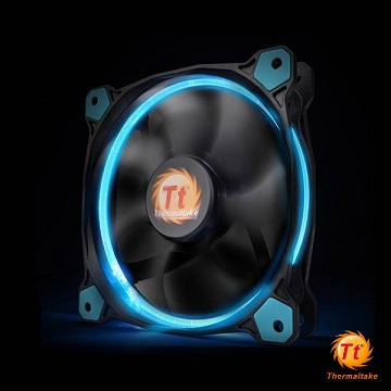 Tt曜越 Riing 14CM LED高風壓水冷排風扇 藍光