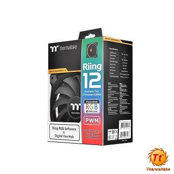Tt曜越 Riing 12RGB水冷排風扇 CL-F049-PL12SW-A