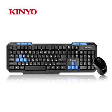 KINYO 2.4GHz無線鍵盤鍵鼠組 GKBM-881
