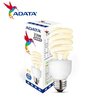 ADATA 威剛23W 節能螺旋球泡燈-黃光