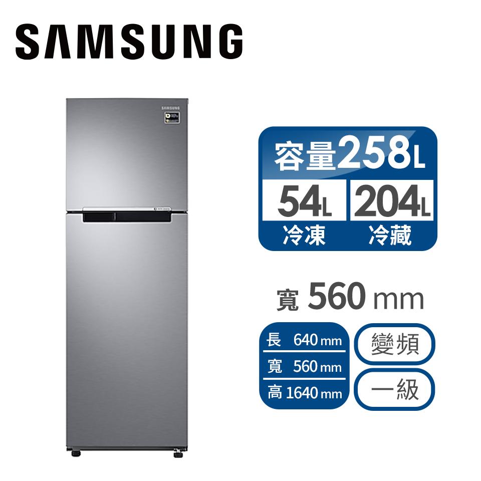 三星SAMSUNG 258公升 極簡雙門變頻冰箱
