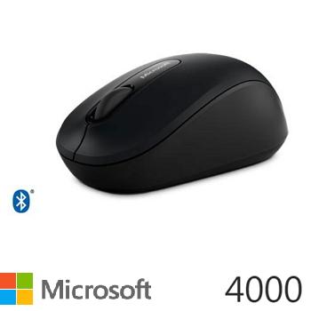 【拆封品】微軟 Microsoft  無線行動滑鼠 4000 - 黑