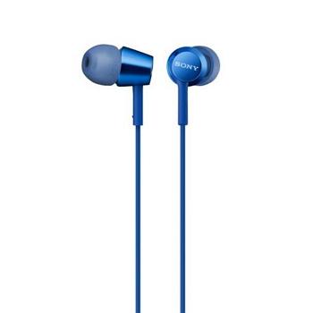 SONY MDR-EX155AP入耳式耳機-深藍