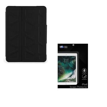 "QP iPad Pro 10.5"" 抗指紋螢幕保護貼+Targus Pro-Tek 3D 保護套-黑"