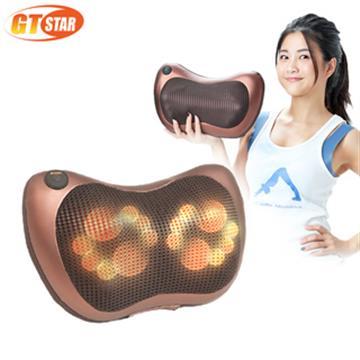 【GTSTAR】挑戰最高規8顆溫熱按摩枕(H68-04 咖啡金)