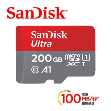 「公司貨」【200G / Ultra A1】SanDisk MicroSD記憶卡