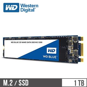 WD威騰 3D NAND 1TB M.2 固態硬碟 藍標