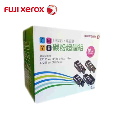 Fuji Xerox 彩雷4色碳粉超值組 CT202264.CT202265.CT202266.CT202267