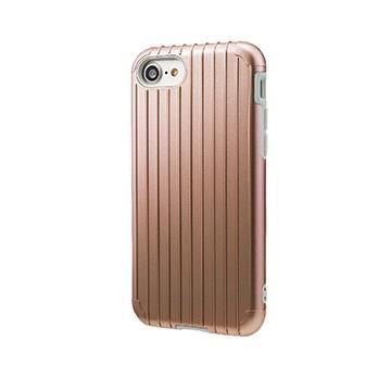 【iPhone 8 / 7】GRAMAS Rib行李箱手機殼 - 玫瑰金