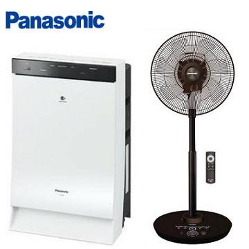 Panasonic日本製15坪空氣清淨機 + 16吋奢華型DC直流風扇 F-H16GND-K