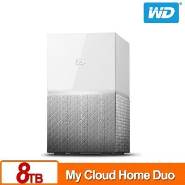 【拆封品】WD 8TB(4TBx2)NAS系統(My Cloud Home Duo)