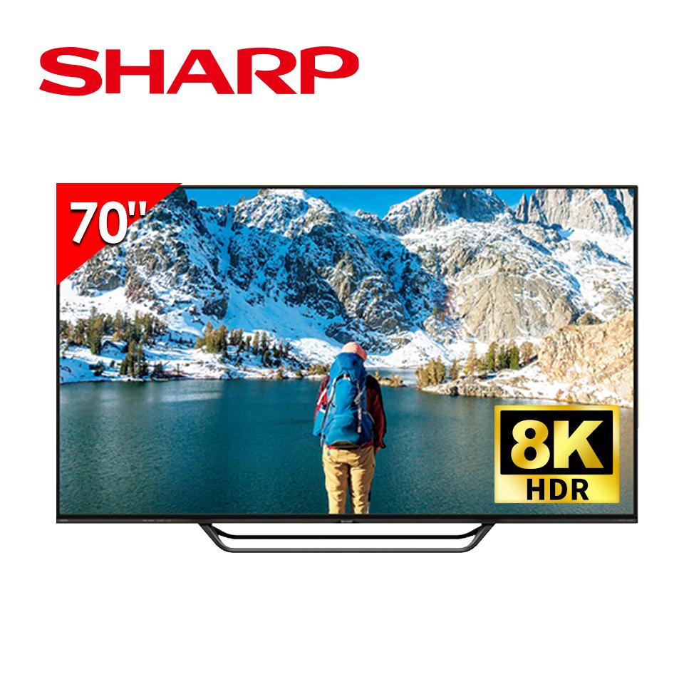 夏普SHARP 70型 AQUOS真8K 液晶顯示器 日本原裝