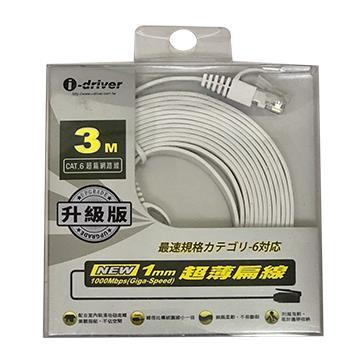 i-driver CAT6超扁網路線(升級版)-3M