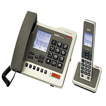 聲寶SAMPO 2.4G數位無線子母電話