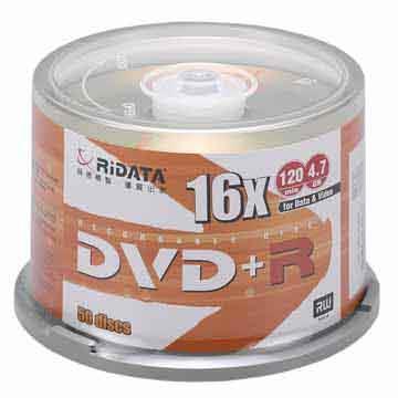 RIDATA 光碟片16X DVD+R/50片桶裝