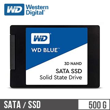 """WD SSD Blue系列-2.5""""500G固態硬碟(3D TLC)"""