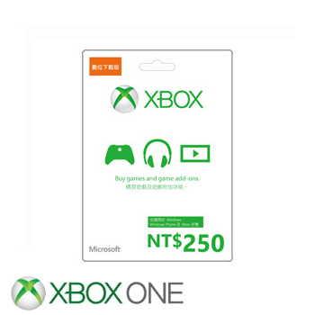 【ESD】微軟 Microsoft 台幣250元禮物卡數位下載版(K4W-00301)