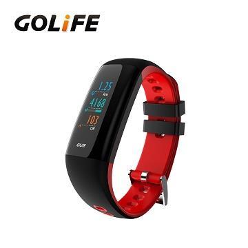 GOLiFE Care-Xc 智慧全彩觸控心率手環-黑紅
