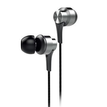 aiwa 入耳式耳機麥克風-銀