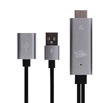 T.C.STAR HDMI高畫質影音傳輸線3M-銀