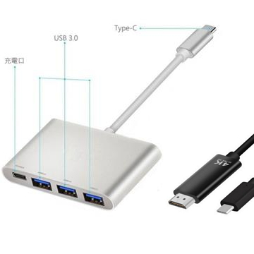 (組合賣場)ZBAND Type-C 轉 USB3.0 多功能集線器-銀 + Type-C 轉 HDMI 4K 傳輸線-1.8M