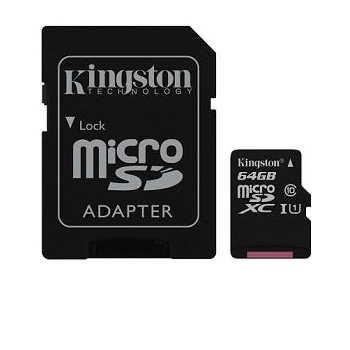 金士頓Kingston Canvas SelectMicroSDXC/UHS-I C10 64GB 記憶卡 (含轉卡)