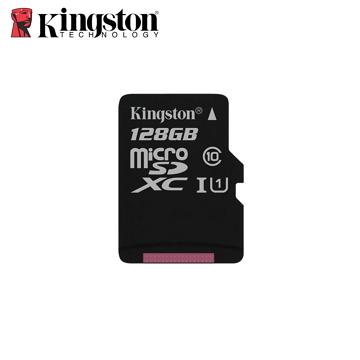 金士頓Kingston Canvas SelectMicroSDXC/UHS-I C10 128GB 記憶卡(含轉卡)