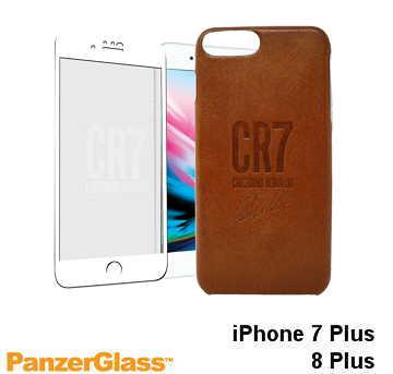 【iPhone 8 Plus / 7 Plus】PanzerGlass CR7限量保護組 - 白