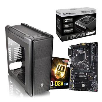 組合包-技嘉H110M主機板+450W Power+發光開窗機殼+120G SSD