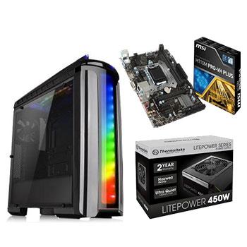 組合包-微星H110M主機板+450W Power+發光開窗機殼+120G SSD