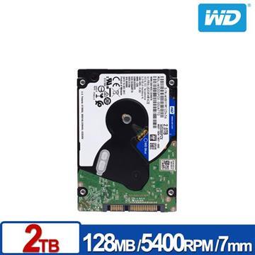 WD 2.5吋 2TB SATA硬碟(藍標)