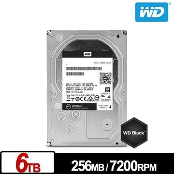【6TB】WD 3.5吋 SATA硬碟(黑標)
