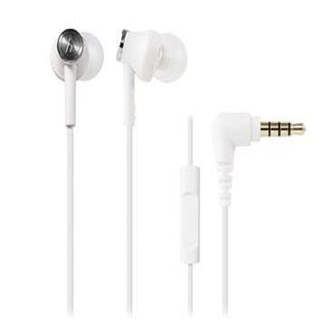 鐵三角 CK350iS耳塞式耳機-白