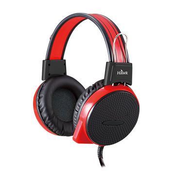 Hawk X710頭戴式電競耳機麥克風-紅