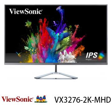 【32型】ViewSonic VX3276 WQHD無邊框螢幕