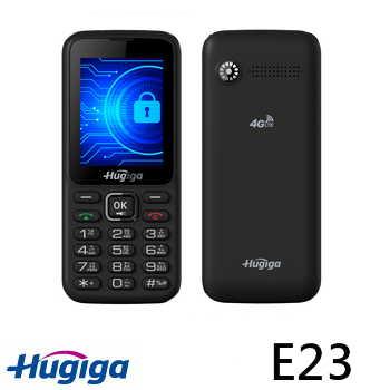 鴻碁Hugiga 4G 直立式資安手機 黑色