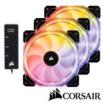 CORSAIR HD120RGB PWM風扇三包裝和控制器