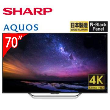 SHARP 70型4K日本原裝智慧連網電視