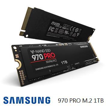 「公司貨」【1TB】SAMSUNG 970 PRO M.2 固態硬碟